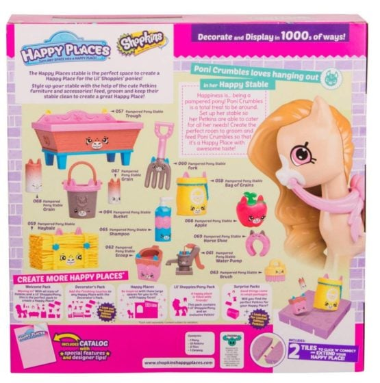HAPPY PLACES - DECORACION SHOPKINS PAMPERED PONY 2