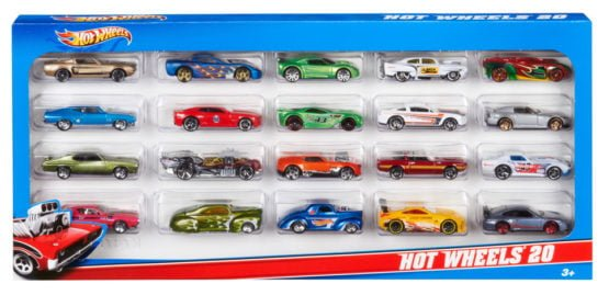 HOT WHEELS PACK DE 20 VEHICULOS COLECCIONABLES 1