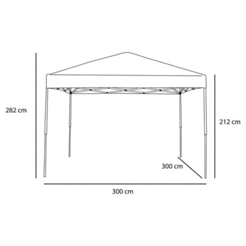 Gazebo UPF fast set 300 x 300 cm Just Home Collection 4
