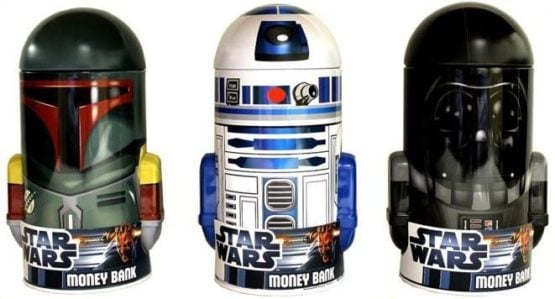 SET DE ALCANCIAS STAR WARS DE METAL X3 - /R2-D2 /BOBA FETT/ DARTH VADER 1