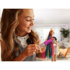 Muñeca Barbie® Peinados de Arco Iris Brillante 15