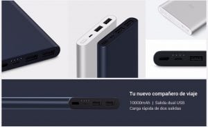 Xiaomi Mi Power Bank 10000mAh 2i carga rápida 3