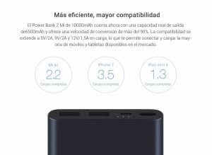 Xiaomi Mi Power Bank 10000mAh 2i carga rápida 8