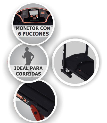 CAMINADOR CINTA DE CORRER ELECTRONICA DREAMS ENERGY 1.6S 6