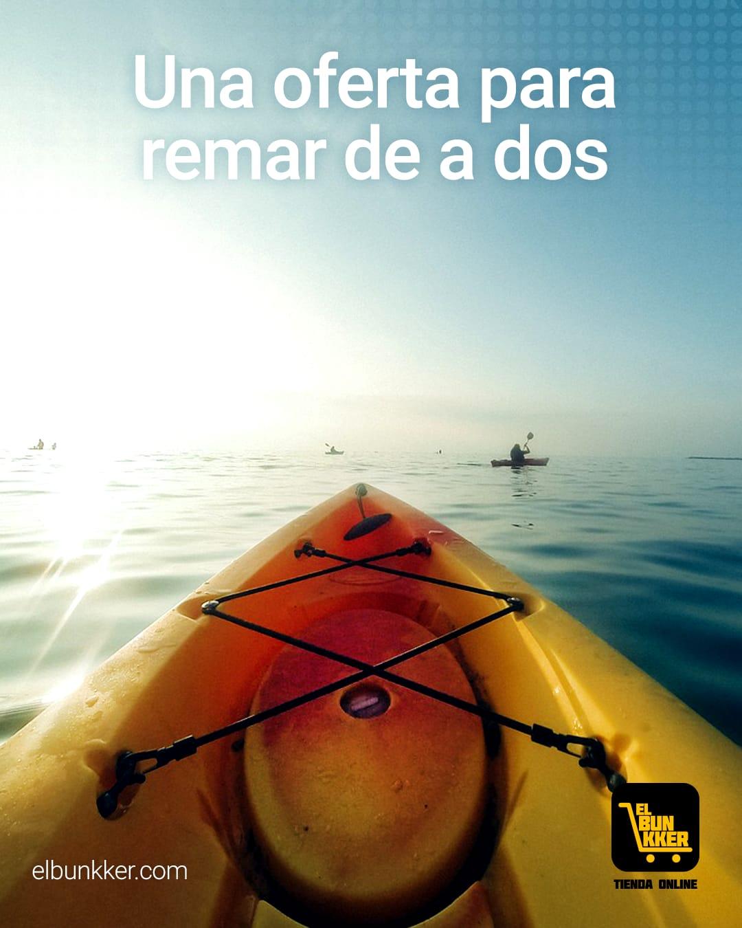Oferta de Kayak SAMOA una oferta para remar de a 2 1